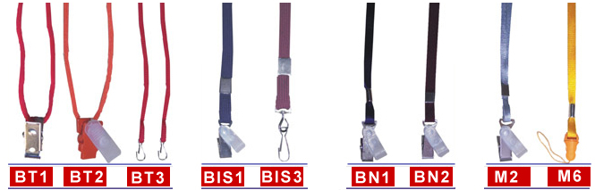 Color Neck Lanyard with Clips